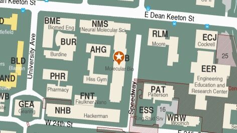 Building map location for Biology Advising Center