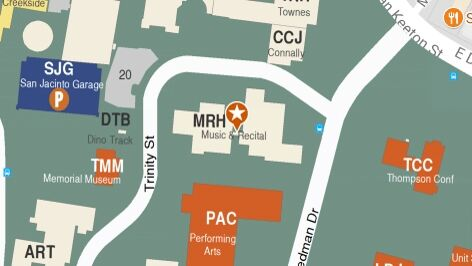 Building map location for Butler School of Music