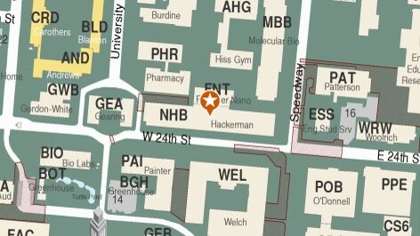 Building map location for Department of Neuroscience