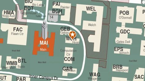 Building map location for Department of Asian Studies