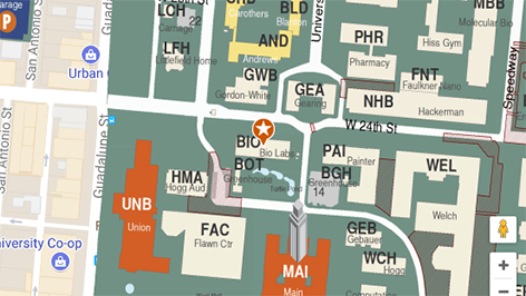 Building map location for Department of Chemistry